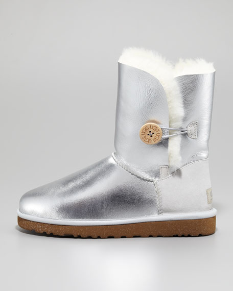 Bailey Button Short Boot, Sterling