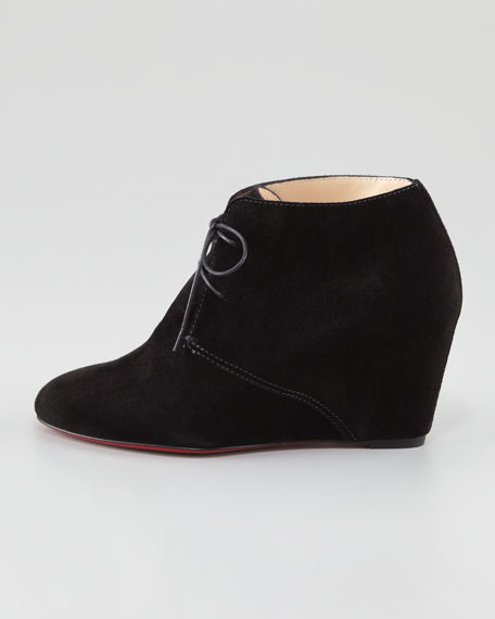 Compacta Suede Wedge Red Sole Bootie