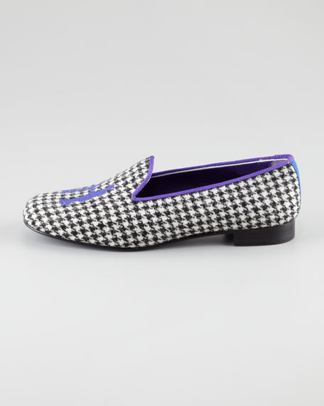 Audrey Houndstooth Smoking Loafer
