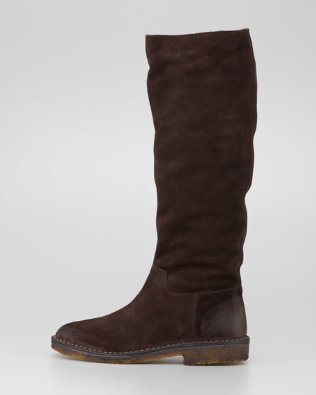 Connor Flat Suede Boot