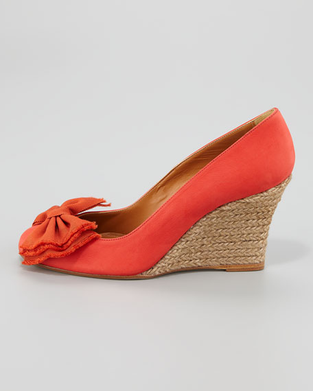 Ballerina Espadrille Wedge, Red