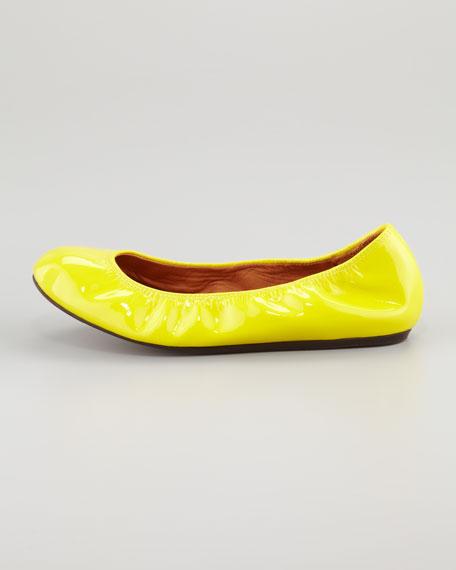 Patent Ballerina Flat, Yellow