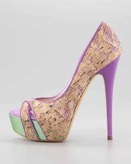 Cork Lace Pump