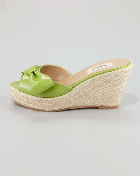 Mena Espadrille Slide, Pop Apple