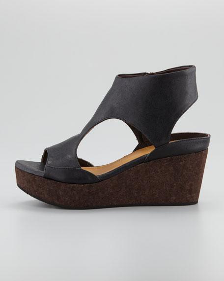 Mosaic Cutout Sandal, Black