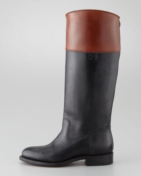Jet Flat Contrast-Cuff Boot