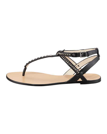 Jaina Studded Flat Sandal