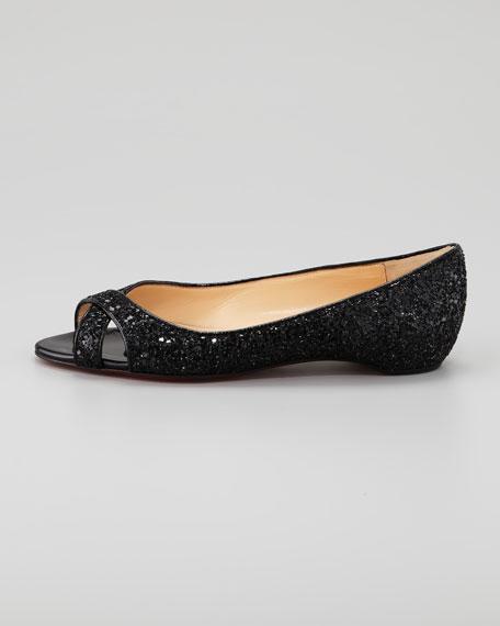 Croisette Glitter Flat, Black