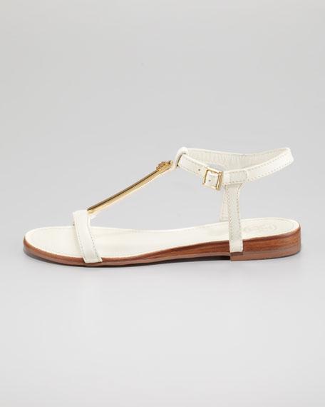 Pacey Thong Flat Sandal, White