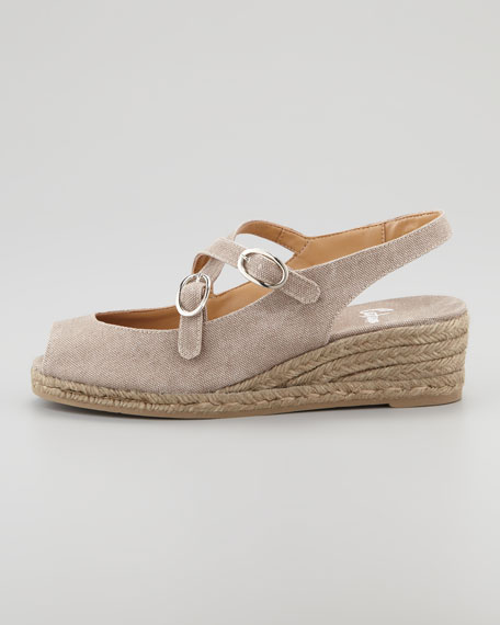 Belen Wedge Sandals, Taupe