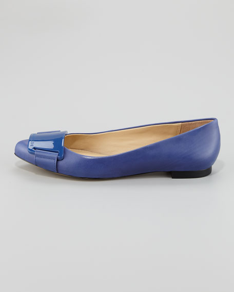 Lana Buckle Ballerina Flat, Sapphire