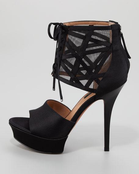 Delfinna Platform Sandal, Black