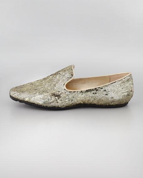Wheel Weekend Sequin Loafer, Gold