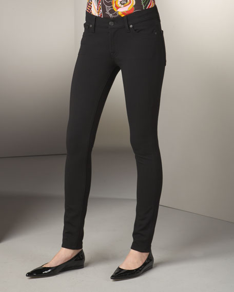 Gwenevere Skinny Knit Pants, Black