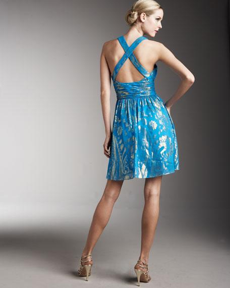 Foil-Print Dress