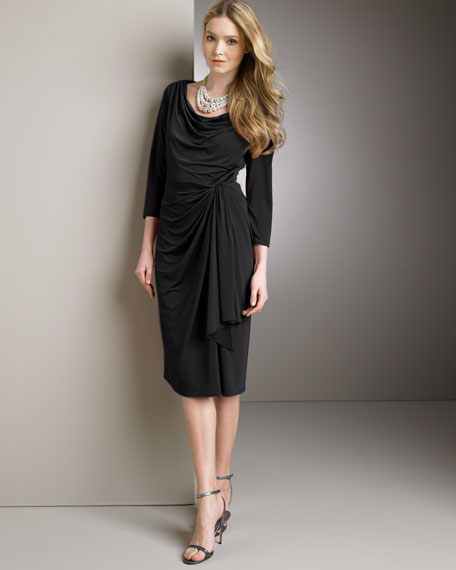 Draped Jersey Dress, Women's