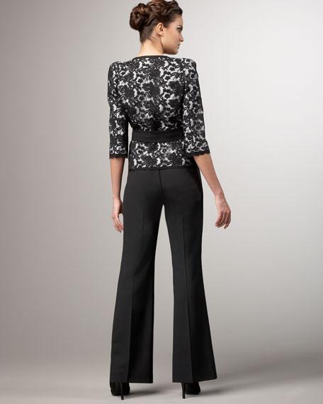 Three-Quarter Sleeve Lace Pantsuit