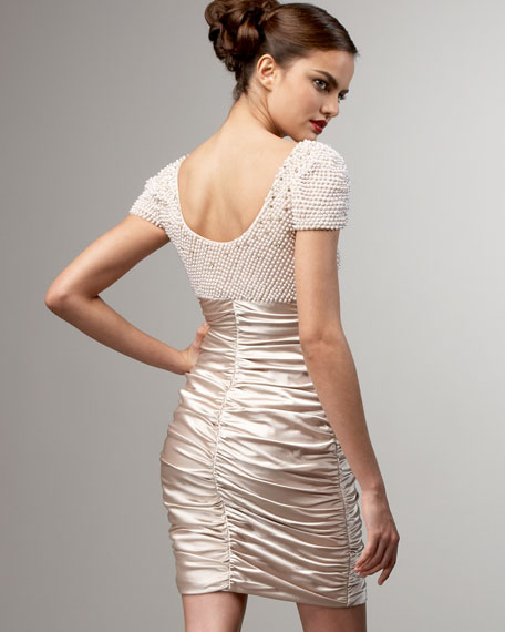 Beaded-Bodice Dress