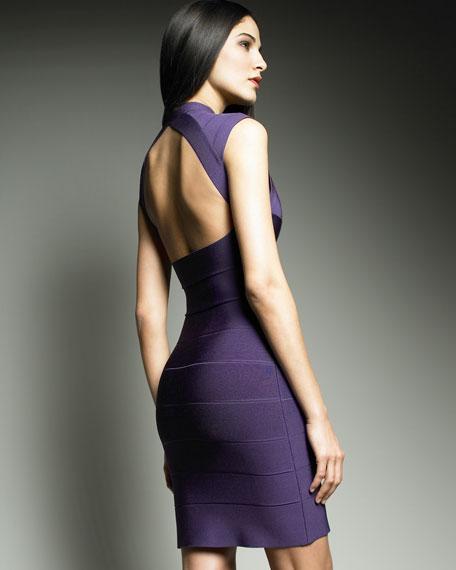 Cutout-Back Bandage Dress