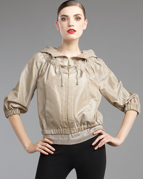 Iridescent Taffeta Crop Jacket