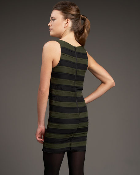 Fitted Striped Tank Dress