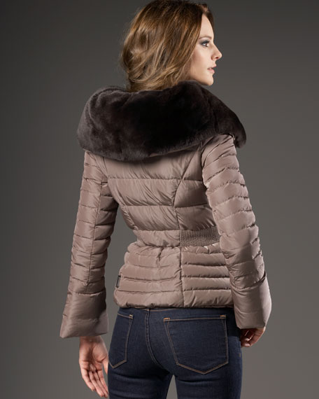 Modane Fur-Collar Puffer Jacket
