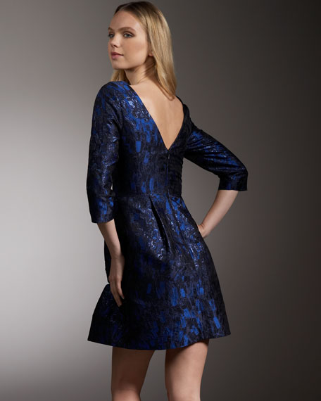 Brocade Cutout Dress