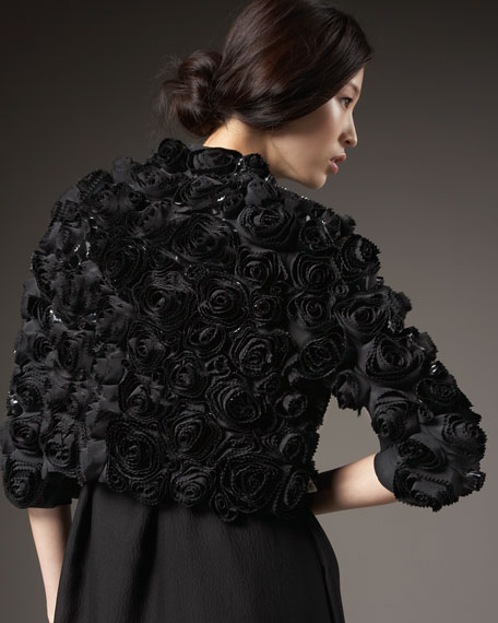 Sequined Rose Bolero