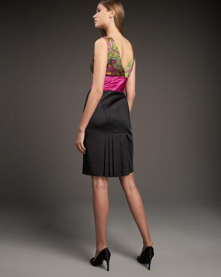 Cummerbund Combo Dress