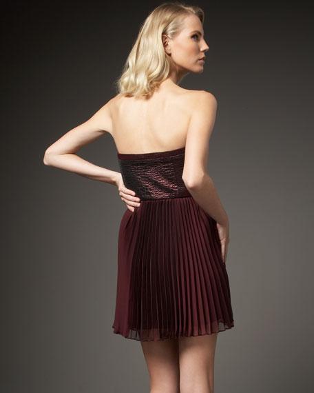 Strapless Jacquard Dress