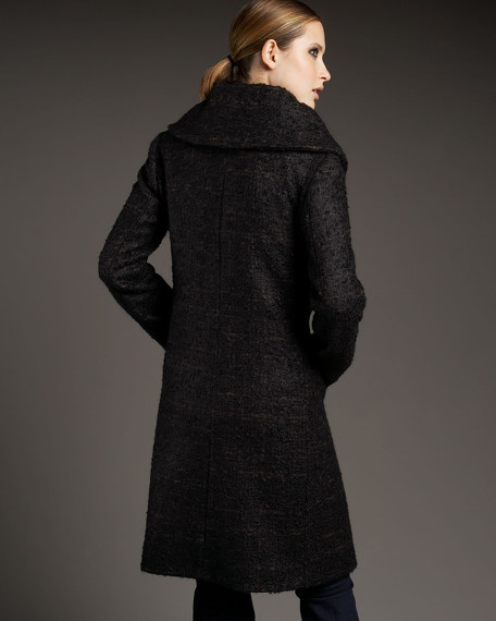 Hidden-Button Coat