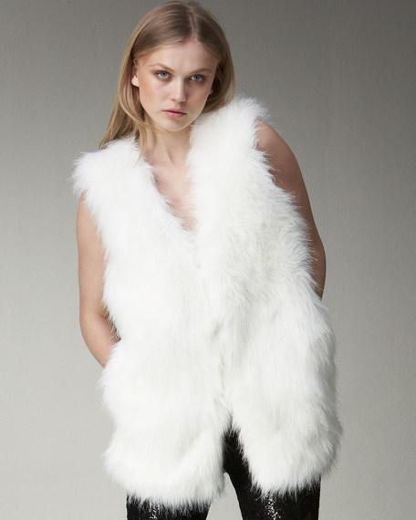 Long Faux-Fur Vest