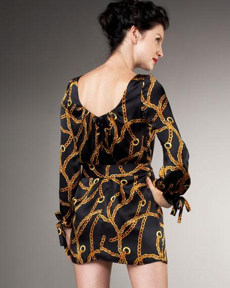 Simone Chain-Print Dress