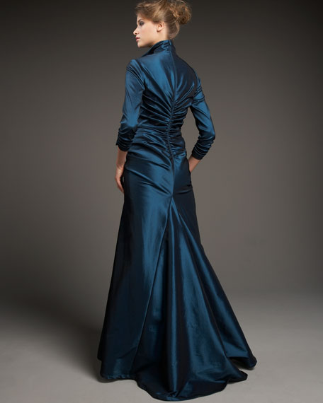 Gathered Shirting Gown
