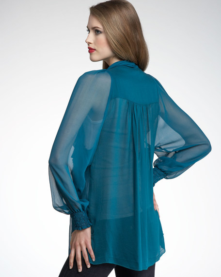 First Love Blouse, Teal