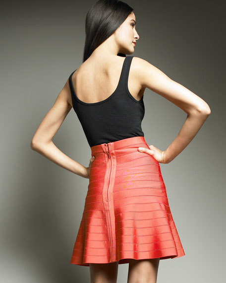 Fit-and-Flare Bandage Skirt