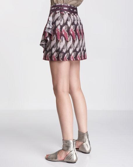 Skipperling-Print Wrap Skirt
