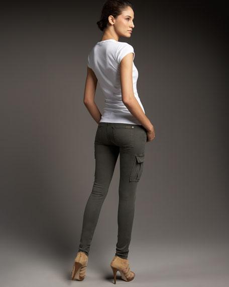 Skinny Cargo Twill Pants
