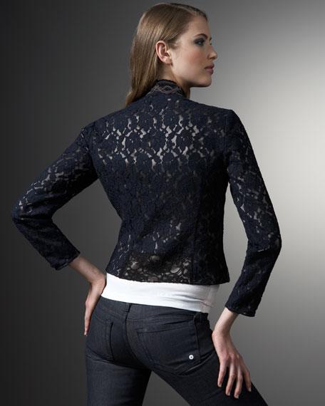 Scalloped-Edge Lace Jacket