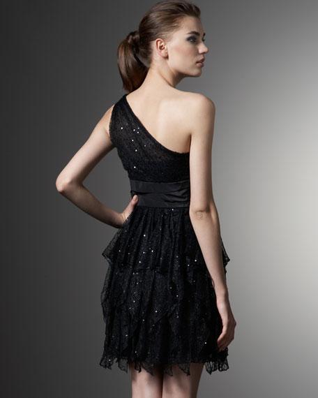 One-Shoulder Lace Dress