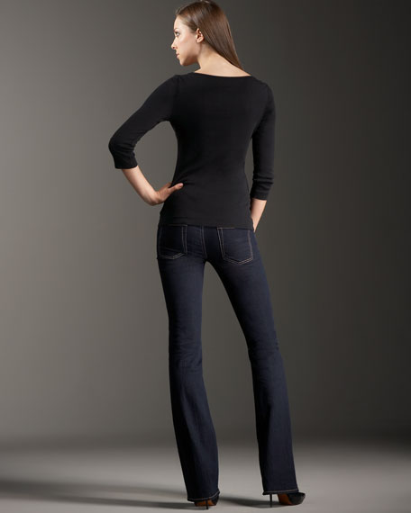 Skinny Bootcut Rinse Jeans