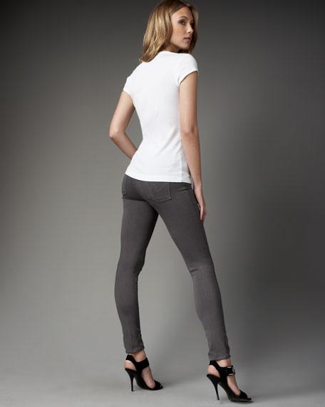 Avedon Skinny-Leg Jeans, Gray