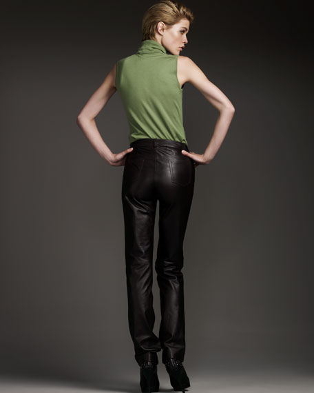 Skinny Leather Pants