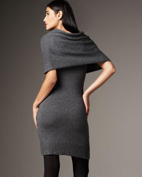Wool Mixed-Media Dress