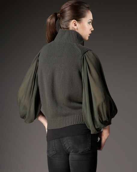 Two-In-One Zip Sweater
