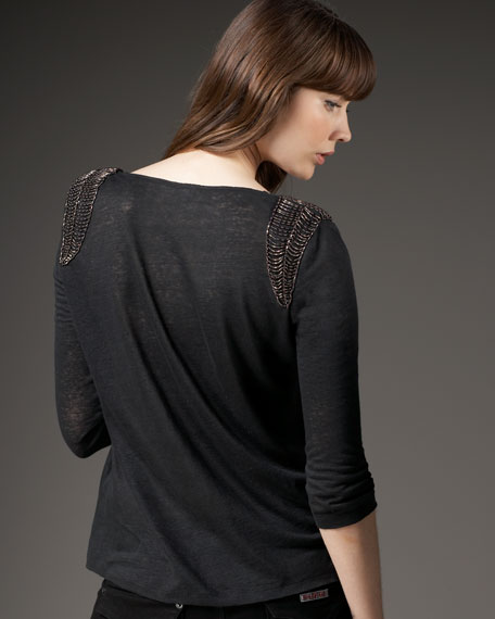 Lottie Top with Shoulder Detail
