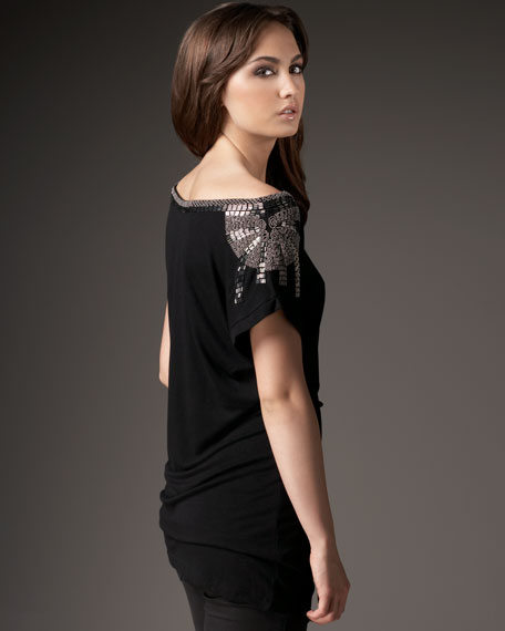 Embellished Jersey Tee