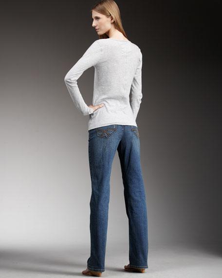 Storm Boot-Cut Jeans, Petite