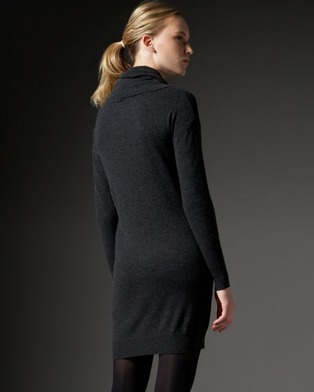 Cowl-Neck Cashmere Tunic Dress