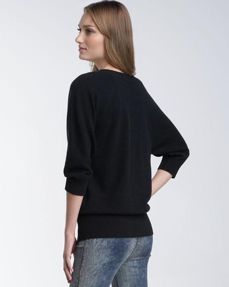 Velvet-Tie Pullover